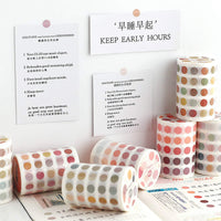 Washi Tape Roll with Individual Die-Cut Translucent Transparent Pastel 8mm Dots | Rose Color - The Stationery Life!