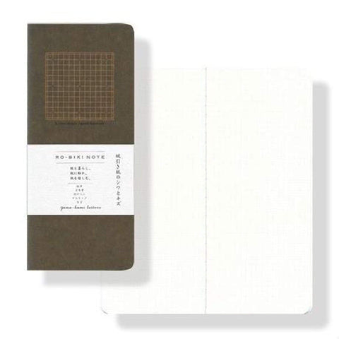 "Yamamoto Ro-Biki Notebook - 3.6"" x 8.3"" - 4.5 mm Graph - Basic - 100% Recycled Paper! - The Stationery Life!"