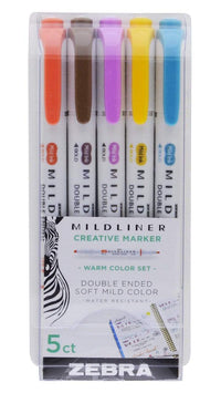 Zebra Mildliner SOFT MILD Mildliner Set of 5 | Blue Package Hard to Find! - The Stationery Life!