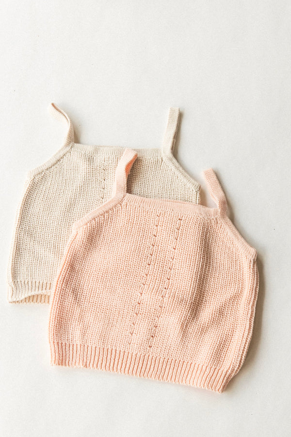 Knit Tank | Light Peach