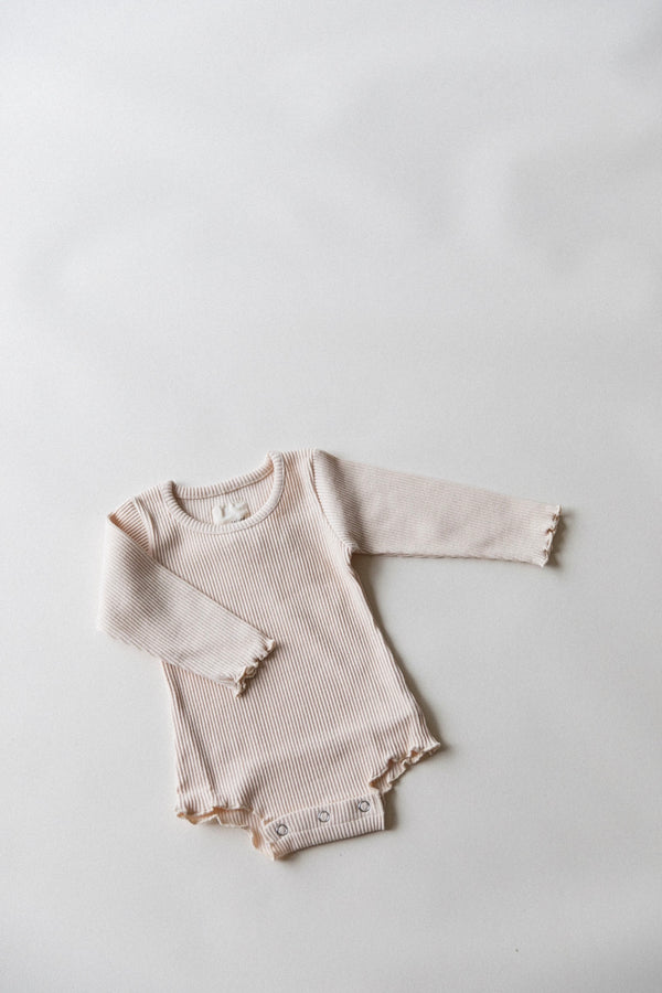 Long Sleeve Hana Onsie | Beige
