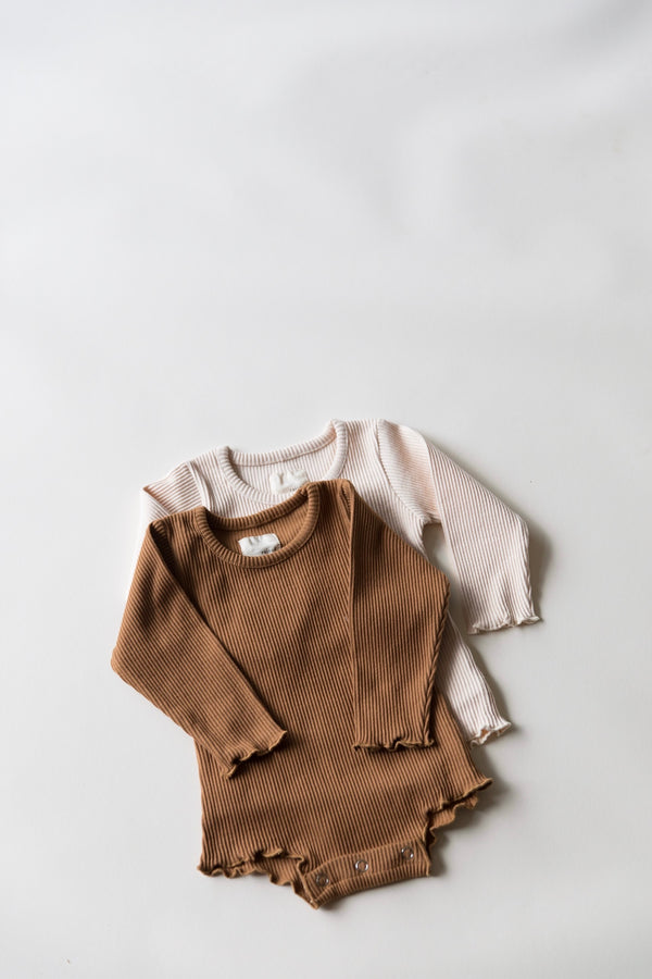 Long Sleeve Hana Onsie | Caramel