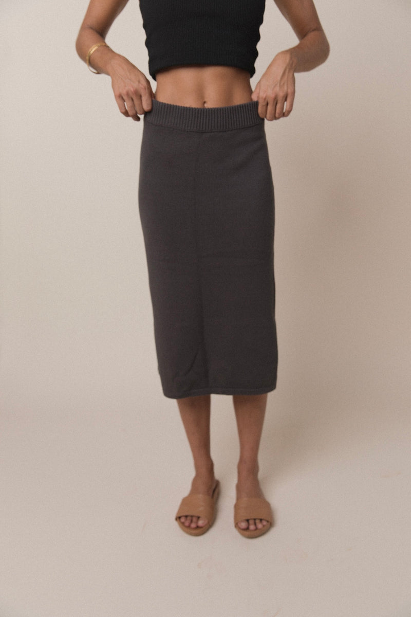 Women's Knit Skirt | Charcoal
