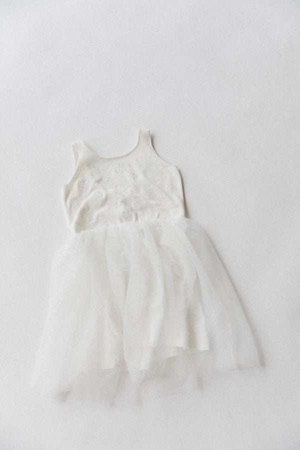 Embroidered Tutu | White