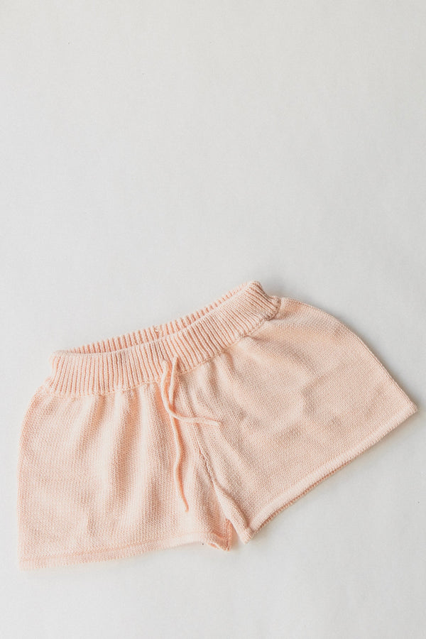 Knit Shorts | Light Peach