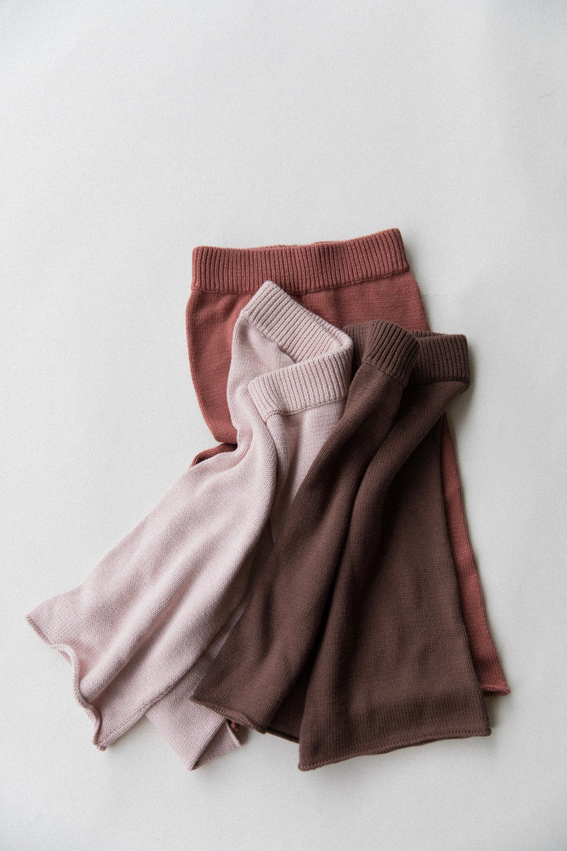 Wide Leg Knit Pants | Rose Smoke