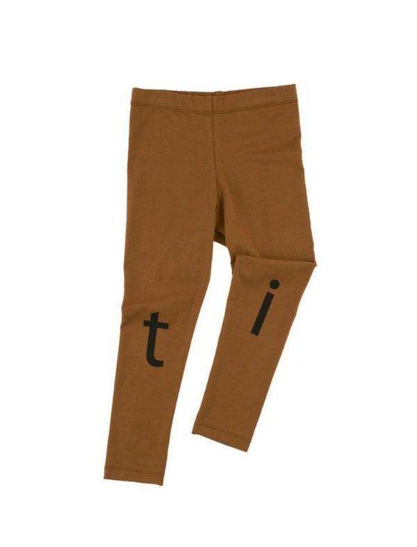 T-i-n-y logo pant - brown