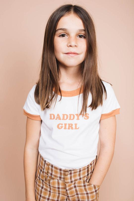 Daddy's girl ringer tee
