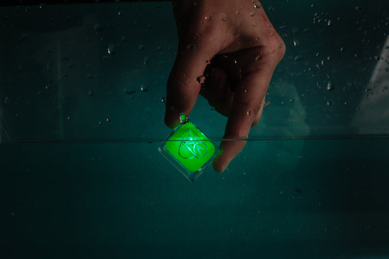 Pippa - green light up cubes