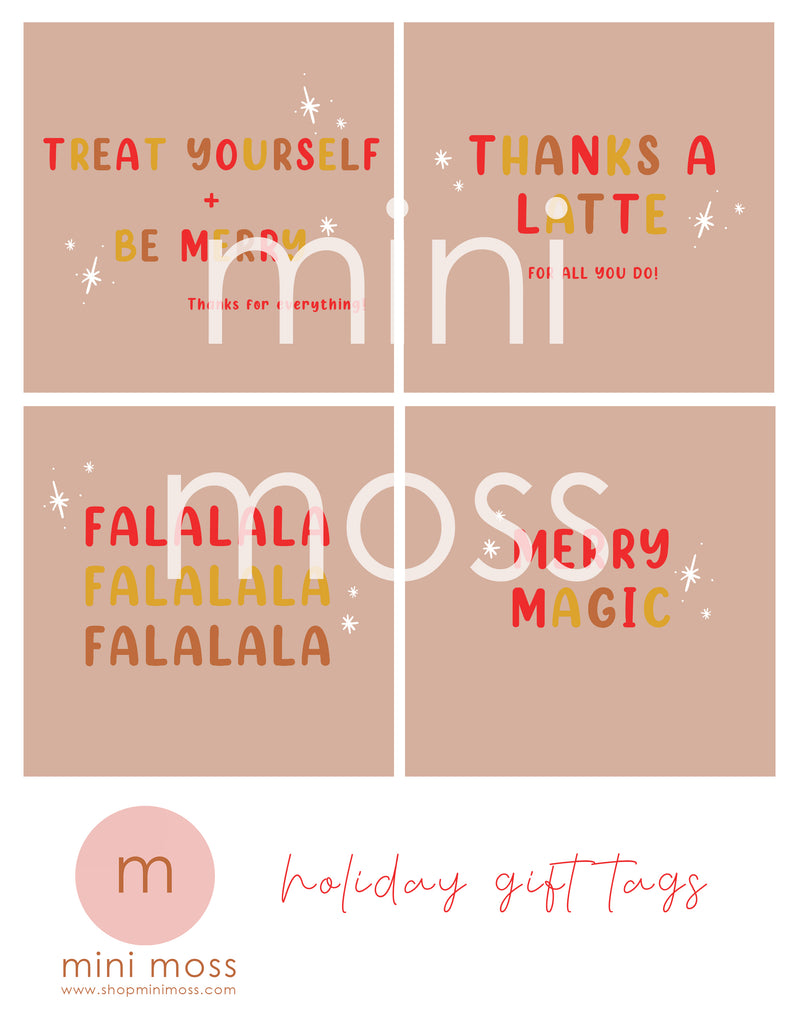 Mini Moss | Holiday gift tags