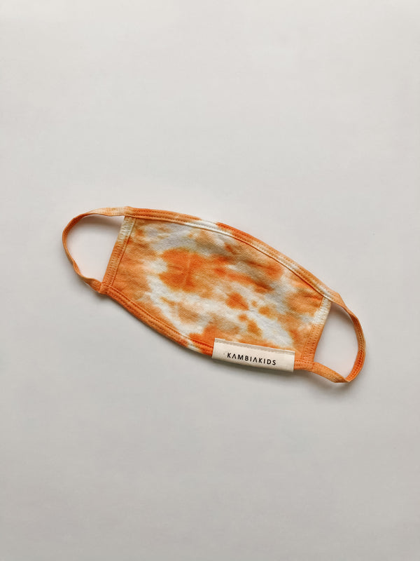 Kids face mask | Tie dye - creamsicle