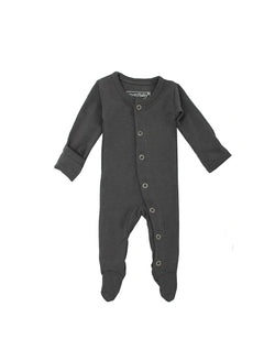 Organic footed sleeper - gray