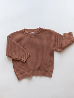 Kindly | Chunky knit pullover - claypot