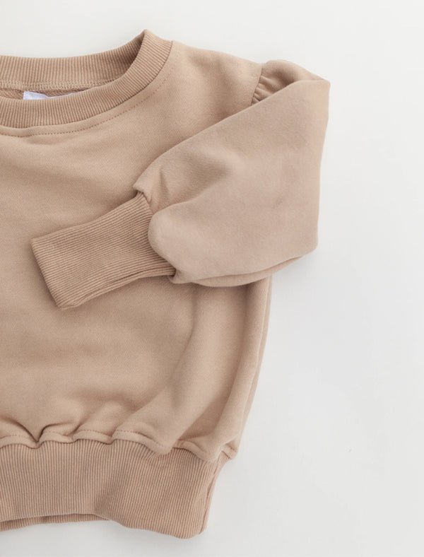 Kindly | Head in the clouds pullover – pink dust