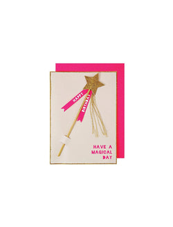 Meri Meri | 'Magic wand birthday' card