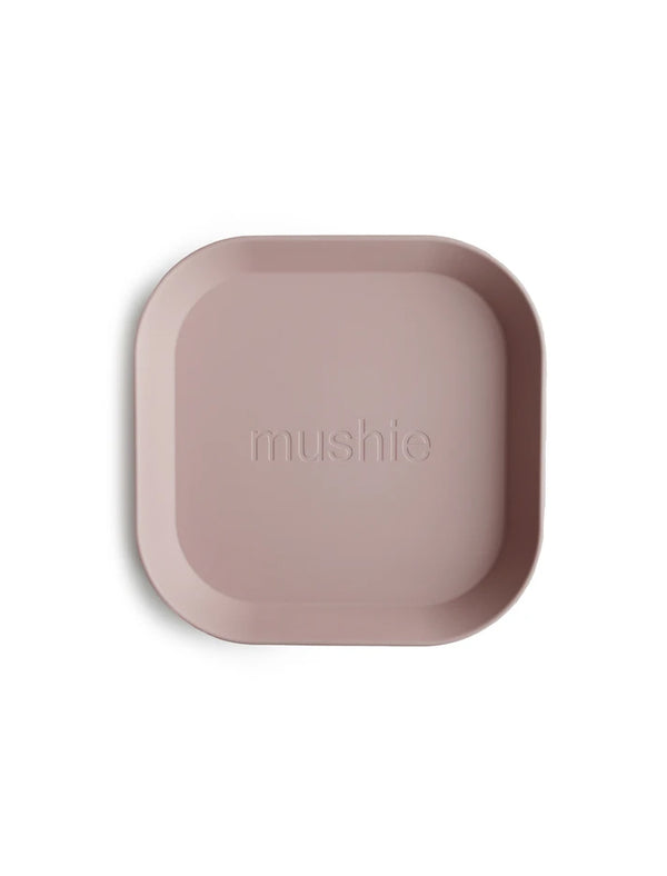 Mushie | Square plate set (blush)