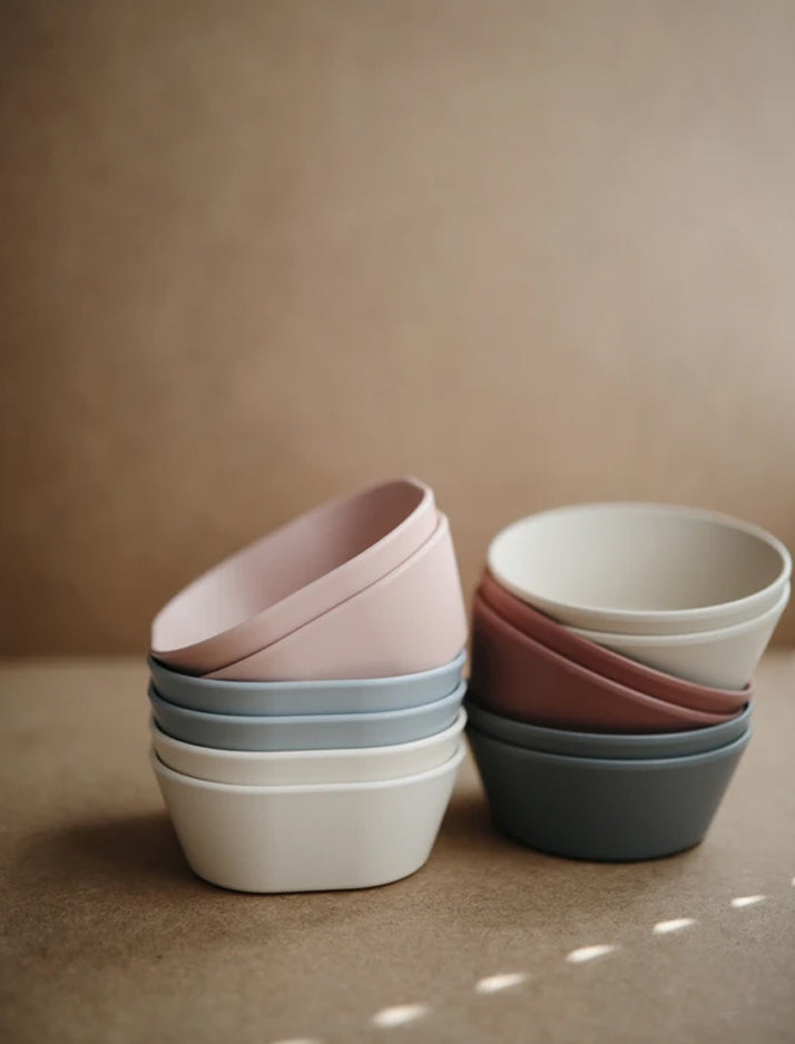 Mushie | Square bowl set (blush)