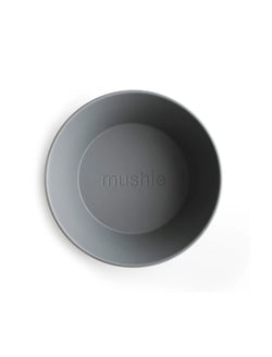 Mushie | Round bowl set (smoke)