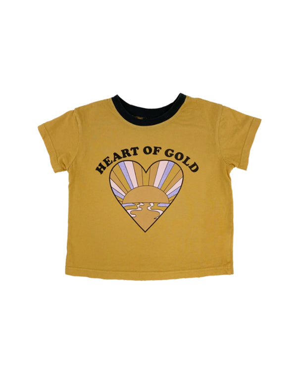 Tiny Whales | Heart of gold - boxy tee