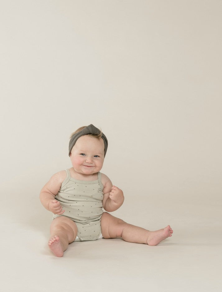 Ribbed tank onesie - dove