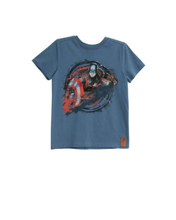 Wheat Kids | Captain America tee - blue