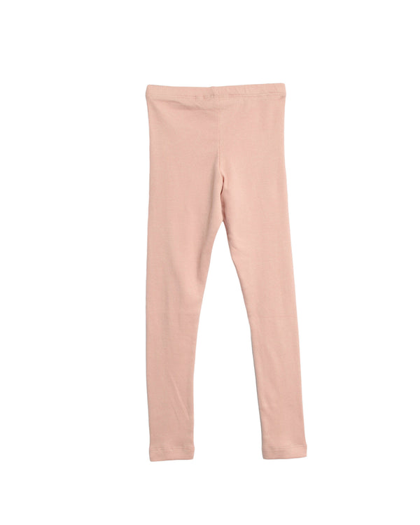 Wheat Kids | rib leggings - misty rose