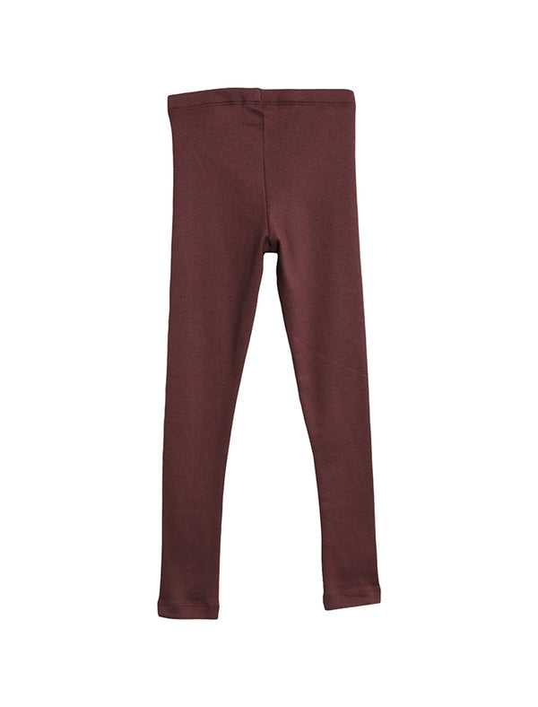 Wheat Kids | rib leggings - soft eggplant