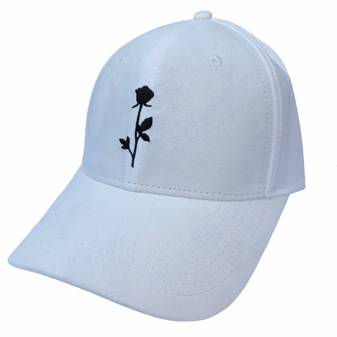 Rose Dad Cap Off White