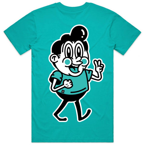 Lil Stretchy Tee Teal