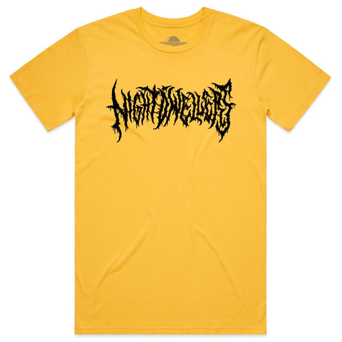 Yellow Staple Logo Tee