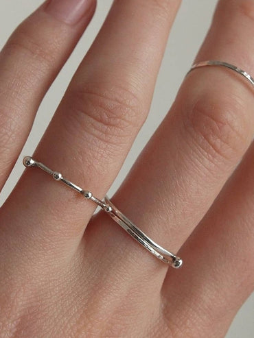 Delicate silver stacking rings
