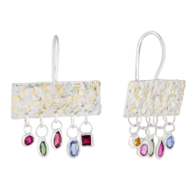 Calypso sapphire luxury earrings