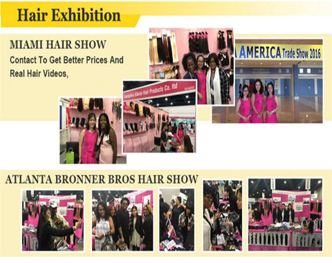 visit and meet up hair business clients on hair show
