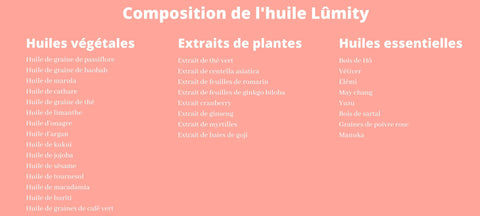 composition huile lumity