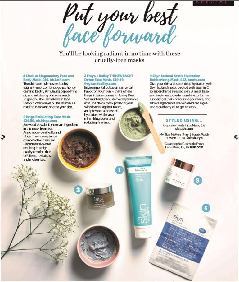 The best cruelty free masks out there- According to Veggie magazine | Freya + Bailey Natural Skincare