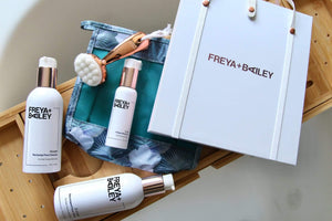 BESTOW! GIFT KIT (Dullness + Uneven skin tone) Free HOT MESS! Bag + UNPLUG! Face Brush - Freya + Bailey Skincare