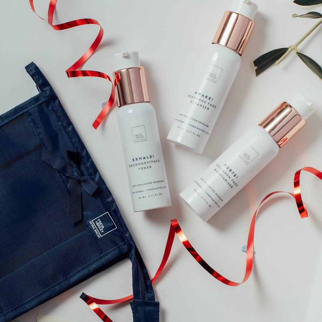 ROAM! FACE RESTORE TRAVEL KIT (NORMAL/COMBINATION SKIN TYPE) Free travel bag - freya-bailey-natural-skincare