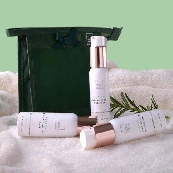 STRIDE! FACE RESTORE TRAVEL KIT (OILY SKIN TYPE) Free travel bag - freya-bailey-natural-skincare