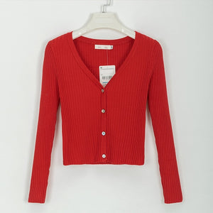 Sexy Button Knitted Cardigan Sweater - GORGEOUS 271, LLC