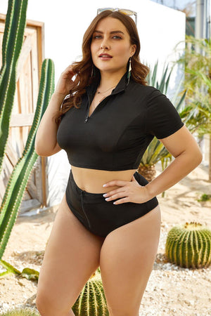 Plus Sizes Short Sleeves Bikini - GORGEOUS 271, LLC