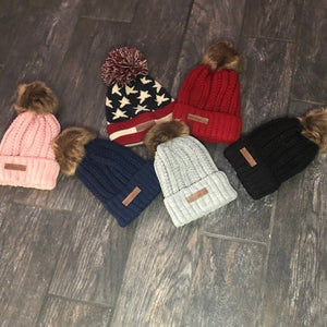 Trilogy Knit Beanie with Pom