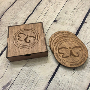 Trilogy Coasters-Walnut
