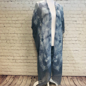 Trilogy Tie-Dye Vest. Scarf. Wrap All-in-One
