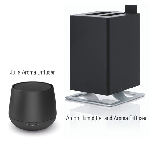 ANTON HUMIDIFIER & JULIA AROMA DIFFUSER BUNDLE - BLACK