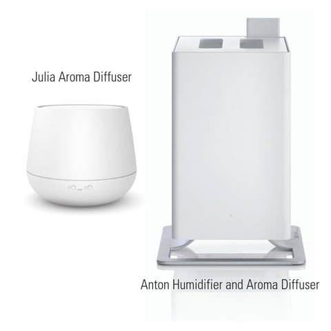 ANTON HUMIDIFIER & JULIA AROMA DIFFUSER BUNDLE - WHITE
