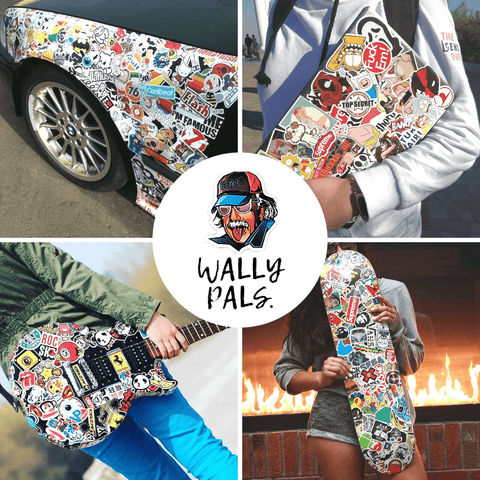 wally pals stickers sets for sticker bomb