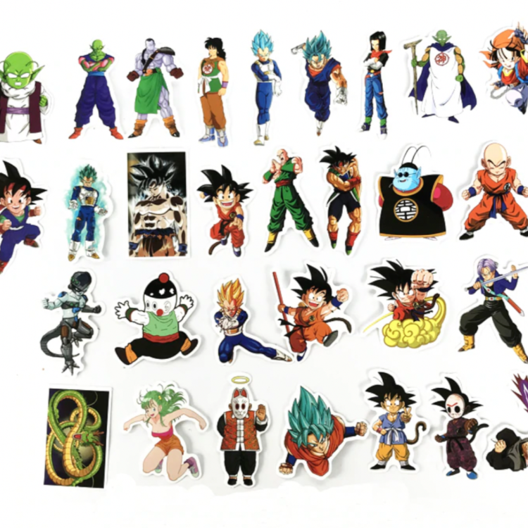 50 pcs stickers 7 dragon ball