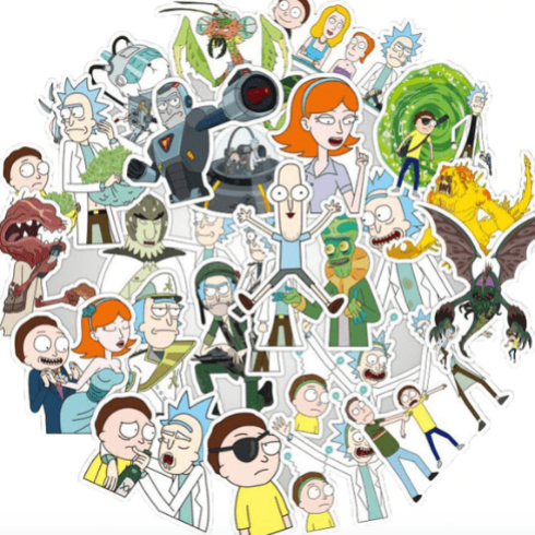 Rick And Morty Stickers Lot  25