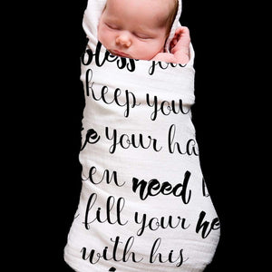 May the Lord Baby Swaddle Blanket