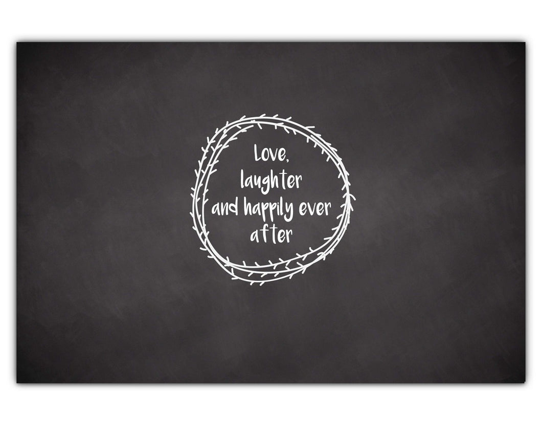 Wedding  Signing Board, Love Laughter & Happily Ever After